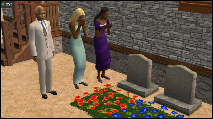 Young Olive Specter, Creon & Willow Nigmos mourn at the funeral of Peponi & Lerato Muenda