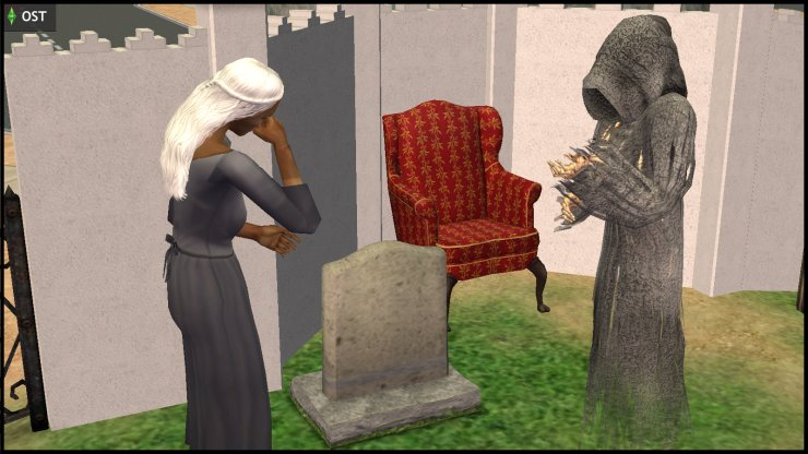 Thanatos Grimm (Grim Reaper) visits Olive Specter
