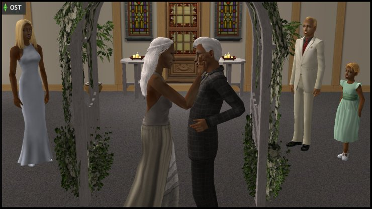 Wedding of Ichabod & Olive Specter, attended by Willow, Creon and Ophelia Nigmos