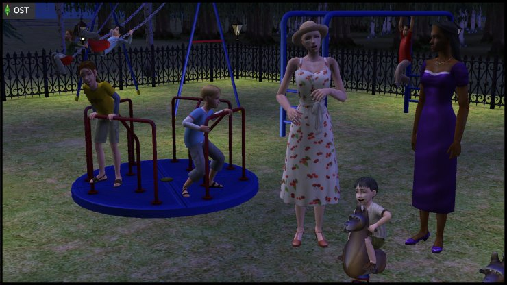 Midnight Hollow's Jane Doe insults Olive Specter & toddler Nervous Subject at the playground, where the young Racing Men are playing