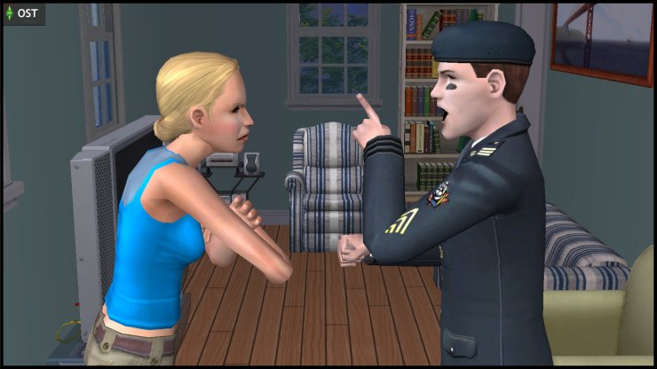 General Buzz and Lyla Grunt arguing