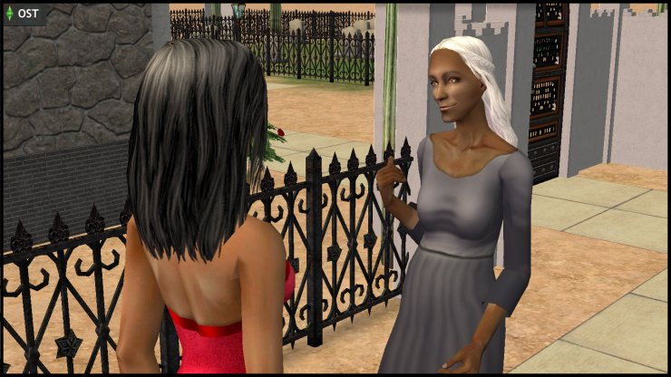 Olive Specter invites Jane Doe / Bella Goth into her house