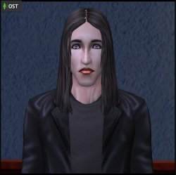 Lucien Hyde (from Sims 3 Midnight Hollow) recreated in Sims 2