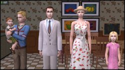 Doe family: John, Jane, Joseph, Jennifer & James (from Sims 3 Midnight Hollow) recreated in Sims 2