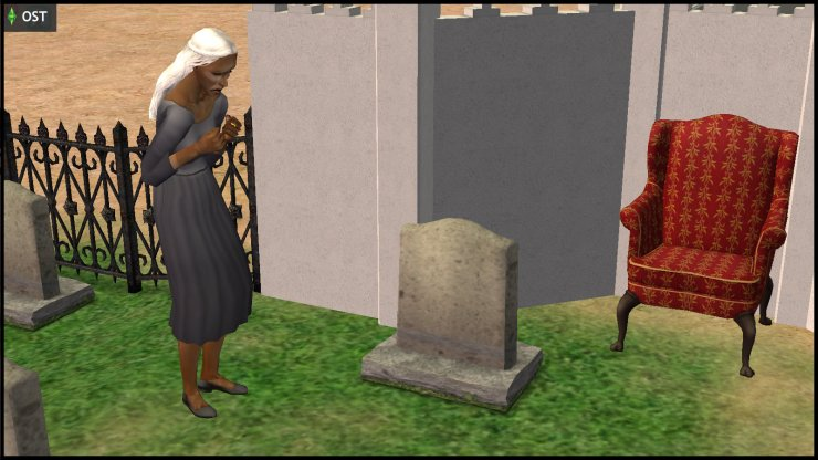Olive Specter mourns at Ichabod's grave