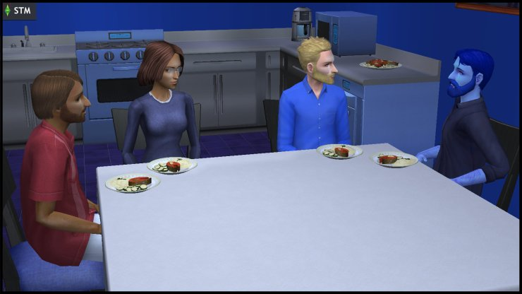 Antonio & Bianca Monty, Kent Capp and Dr Prometheus Hyde have dinner