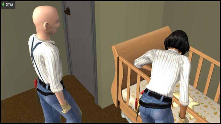 James & Susan Windmark tending to their toddler