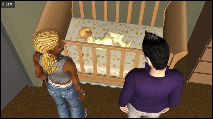 Nick Grimm (Nervous Subject) & Ophelia Nigmos see the Windmark baby
