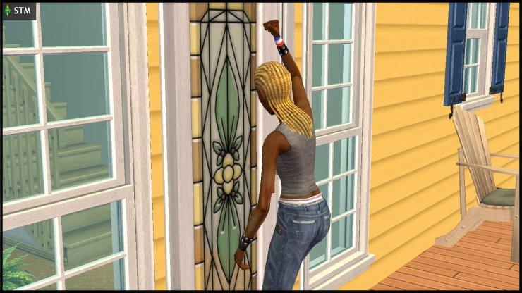 Ophelia Nigmos bangs frantically on the Smith family's door