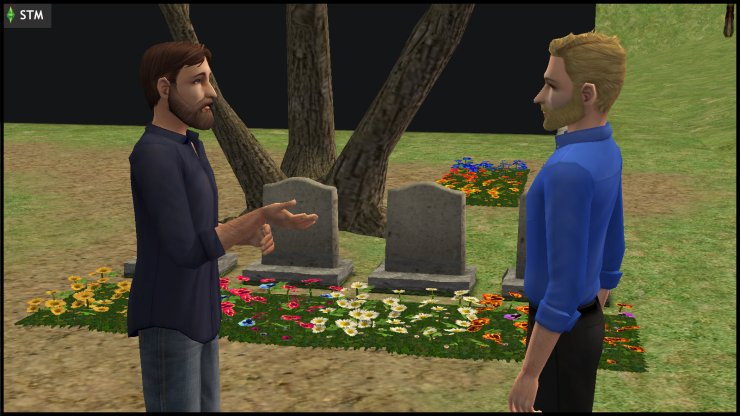 Dr Prometheus Hyde & Kent Capp discuss the plan at the Veronaville Disaster Memorial, while the Black Box looms nearby