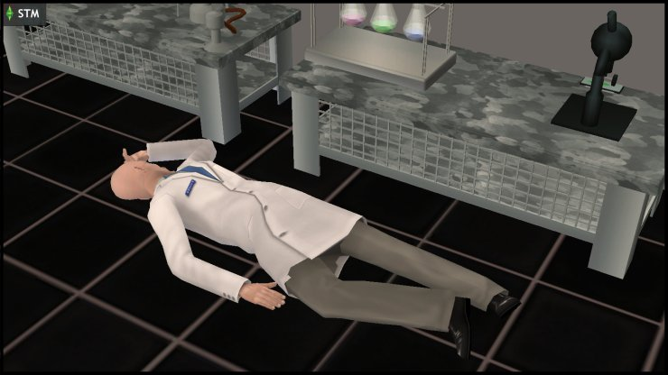 Kent Capp unconscious in the lab for several minutes