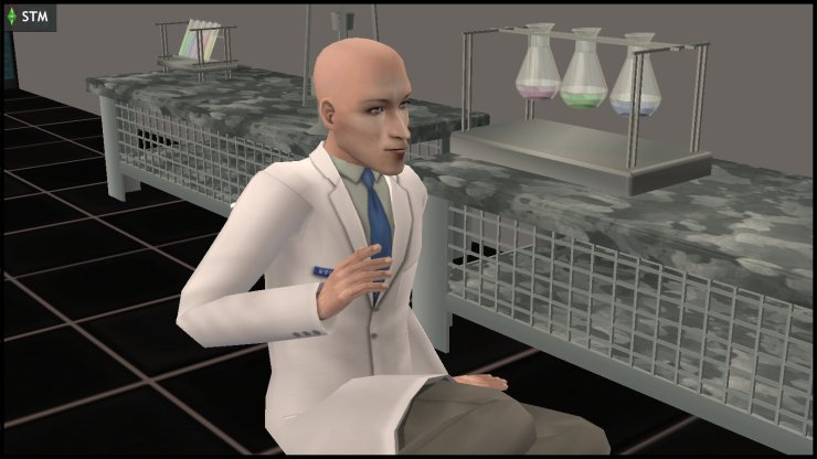 Kent Capp regains consciousness alone in the lab