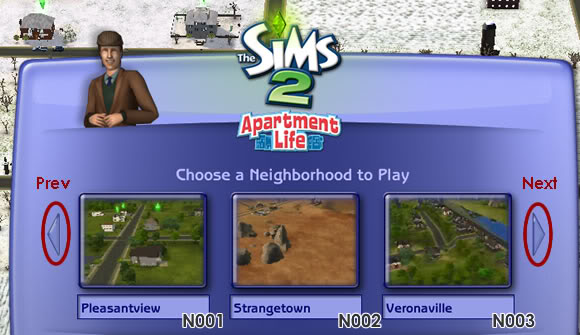 Sims 2 Neighborhood Manager Screen - Page 2