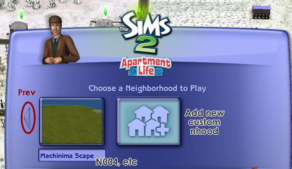 Sims 2 Neighborhood Manager Screen - Page 3