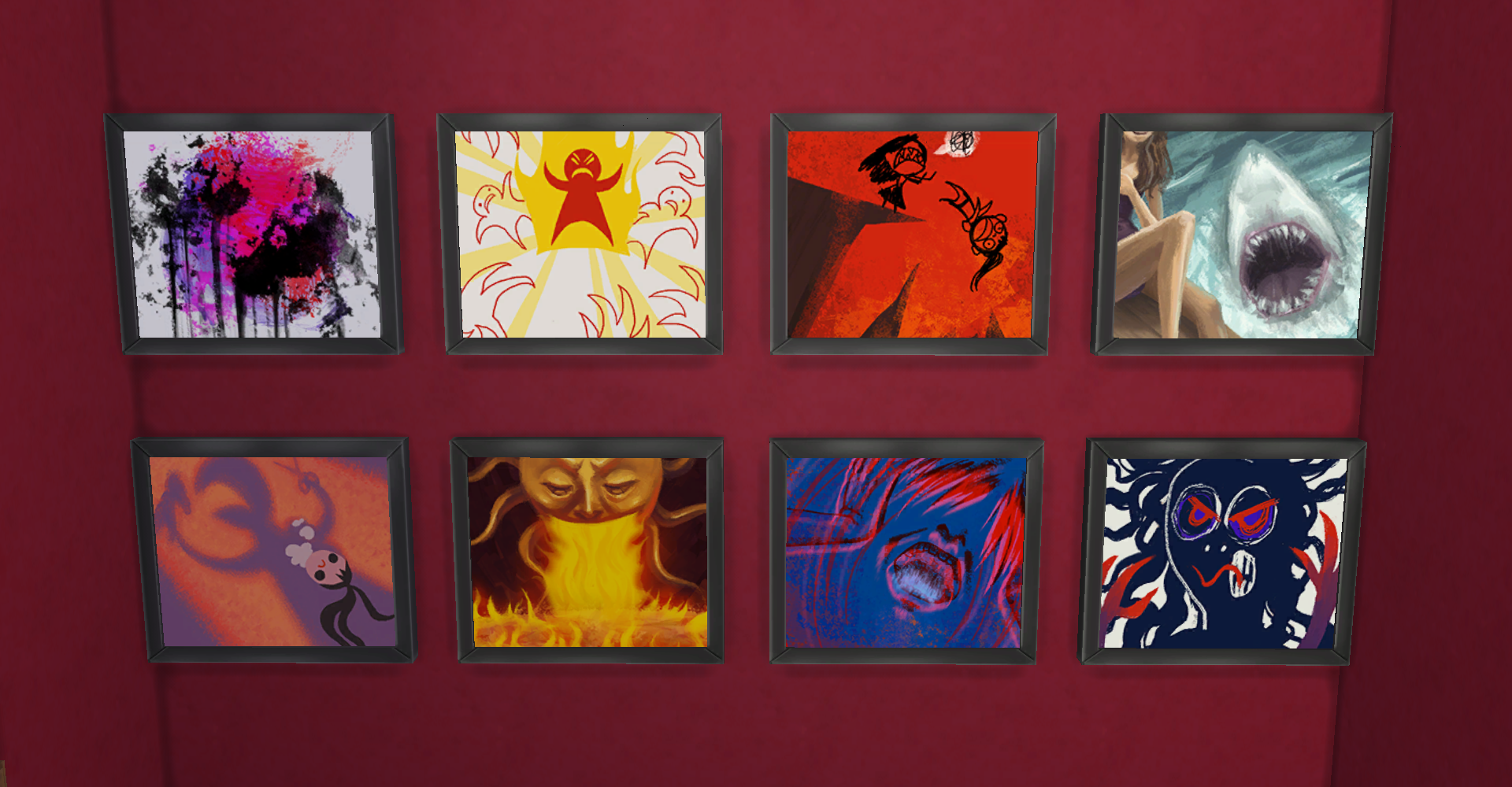 Sims 4 Angry Paintings
