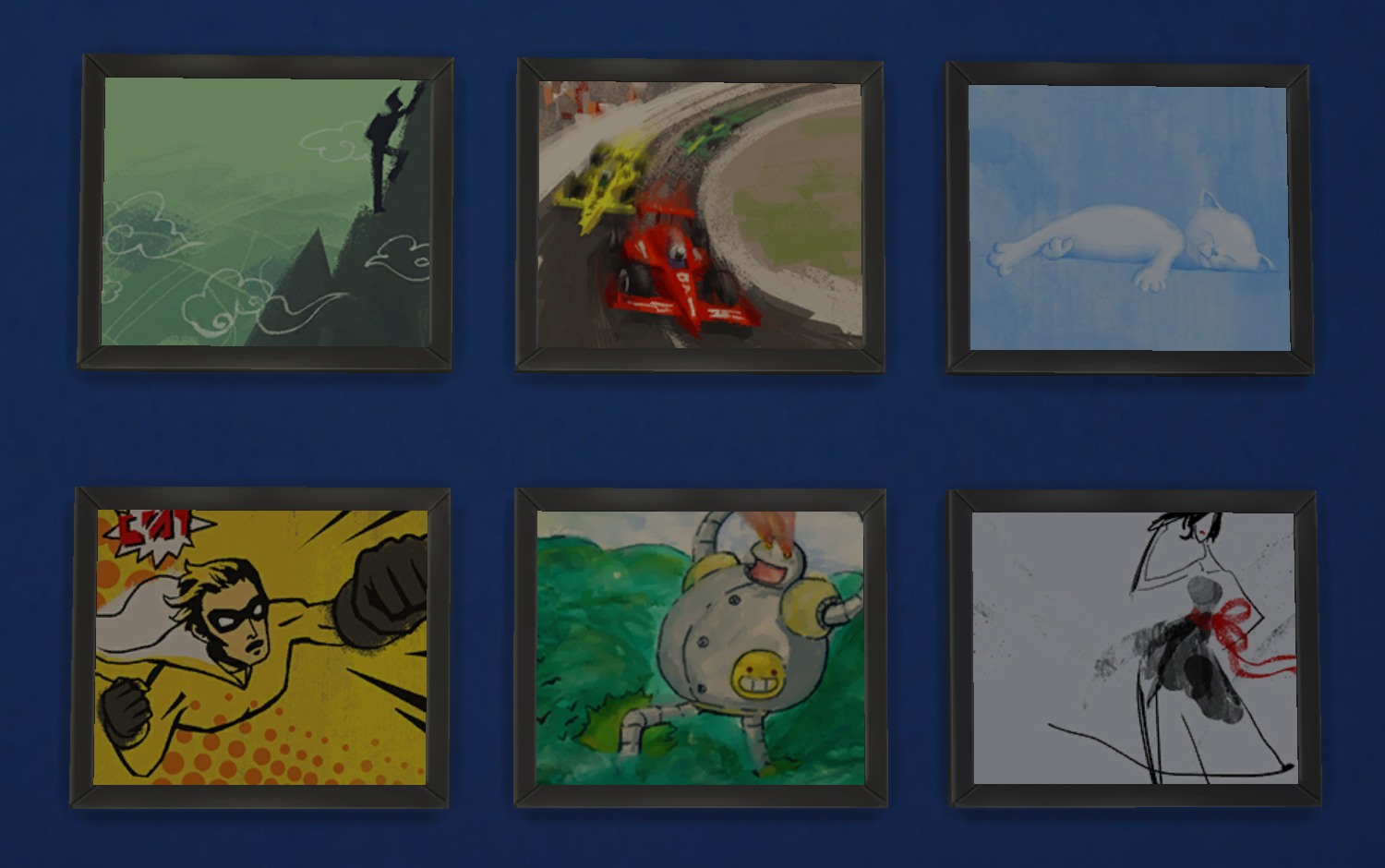 Sims 4 Confident Paintings