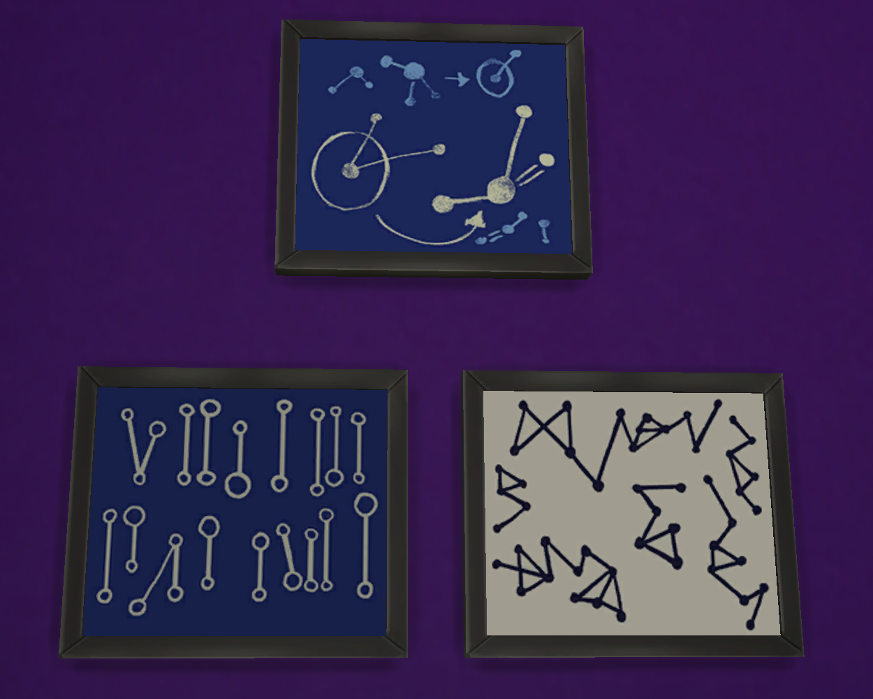 Sims 4 Mathematical Diagrams / Focused Paintings