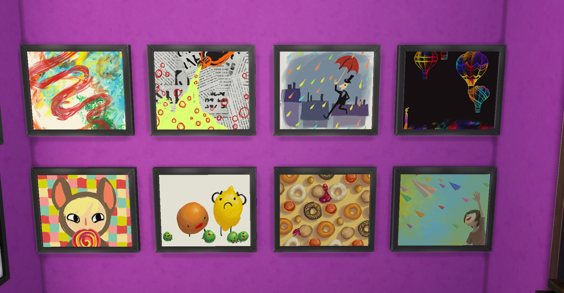 Sims 4 Playful Paintings